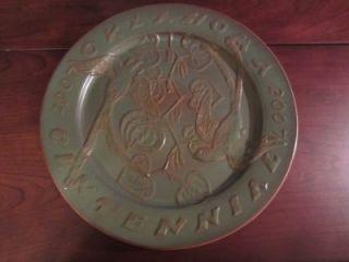 Frankoma Pottery Oklahoma Centennial 1907 2007 Commemorative Plate