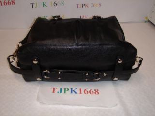 Coach Black Ashley Leather Satchel Handbag 15445