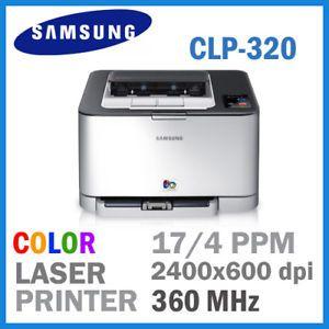 Samsung CLP 320 Color Laser Printer 17 4ppm 2400X600DPI