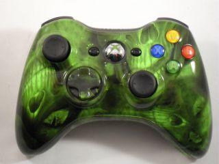 Green Skulls Xbox 360 Controller Rapid Fire Mod Modded Cod Modern Warfare 3 MW3