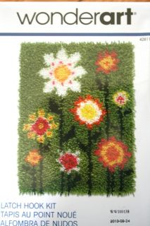 """Wonderart Latch Hook Kit Pop Flowers 15"""" x 20"""""""
