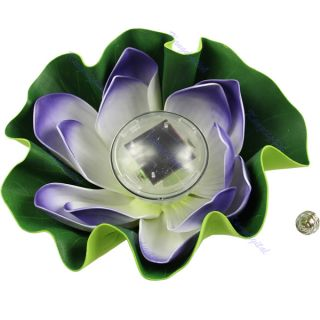 Solar Colorful LED Lotus Flower Lamp Floating Yard Pond Garden Pool Night Light