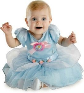 Infant Cinderella Costume Girls Blue Princess Fancy Dress Toddler Baby Child