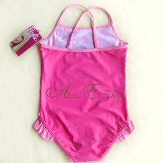 Girls Baby Barbie Princess 2 7Y Swimsuit Swimwear Swim Costume Bathing Suit