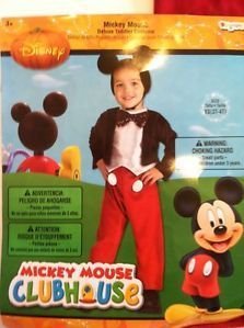 ... Mickey Mouse Halloween Costume Size 3T 4T Boys Toddler Disney Clubhouse Dress Up ...  sc 1 st  PopScreen & Disney Mickey Mouse Halloween Costume One Piece Toddler Baby Boy 18 ...