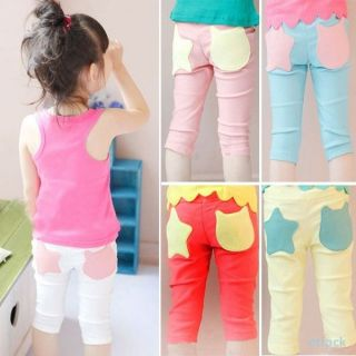 New Kids Costume Baby Girls Stars Pattern Pants Leggings Shorts Trousers 1 6Y
