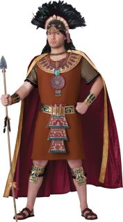 Mayan King Adult Mens Costume Tribal Leader Medieval Tunic Theme Party Halloween