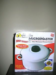 New Micromaster Microwave Pressure Cooker Rice Vegetable Steamer