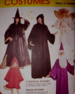Uncut Vintage McCalls Sewing Pattern Halloween Costumes Wizard Witch 7838 Kids