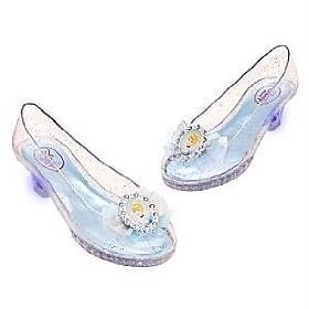 Disney Store Princess Cinderella Costume Shoe Light Up Toddler Shoe Size 7 8 New