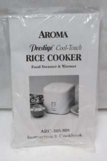 Aroma Prestige Cool Touch Rice Cooker Food Steamer Warmer 2 10 Cup Arc 805