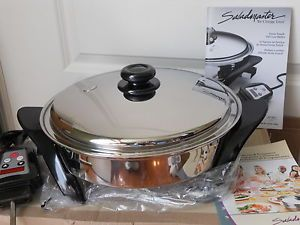 Saladmaster Titanium 316Ti Electric Skillet Waterless Cookware USA