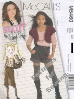 Pattern McCalls Girl Teen Hilary Duff Jacket Top Shorts Shrug Capris Sz 12 16 Op