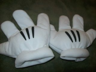 Disney Mickey Minnie White Gloves Hands Halloween Costume Toddler 2 4T