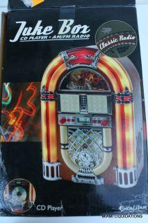 Jukebox Tabletop Am FM Radio CD Player Retro 50's Excalibur