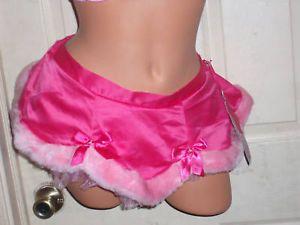 Victoria Secret Santa Baby Costume Pink Satin Skirt O S