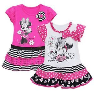 Girls Baby Minnie Mouse Sz 4 7Y Fairy Summer Party Top Dress Skirt Costume Xmas