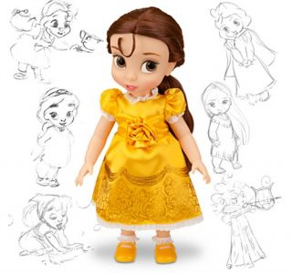 Disney Beauty and The Beast Princess Belle Animators Collection Toddler Doll New