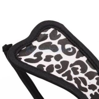 Fashion Women's Super Sexy White Leopard C String Invisible Thong Underwear
