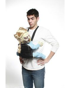 New Creepy Evil Baby Carrier Harness Costume Animatronic Halloween Animated Prop
