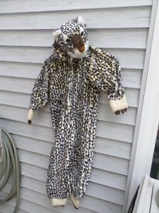 "Leopard Cheetah Costume Head Paws Child Toddler Medium Fits 3 5 44"" Halloween"