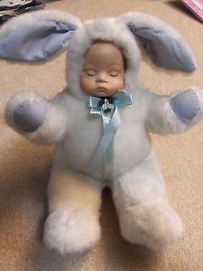 Porcelain Baby Doll in Bunny Costume