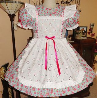 "Annemarie Adult Sissy Baby Little Girl Dress "" Bouquet of Roses """