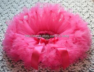 Hot Pink Party Costume Ballet Girl Toddler Baby Tutu Skirt 0 5T