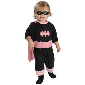 Pink Batgirl Costume Newborn Baby Batgirl Superhero Halloween Fancy Dress