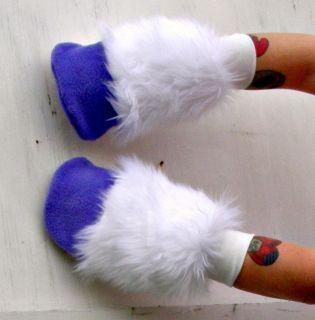 My Little Pony Custom Plush Fur Fingerless Glove Hooves Rarity MLP FIM Cosplay
