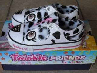 Toddler Girls Skechers Twinkle Toes Friends Light Up Animal Print Fur Shoes