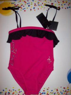 Baby Phat Swimsuit Swimwear One Piece Toddler Girls Sz 4T Pink Ruffle