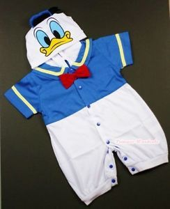 Infant Baby Donald Duck Romper Halloween Party Costume Cosplay Outfit NB 18Month