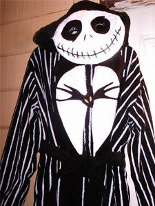 OMG Euro Disney Nightmare Brfore Christmas Jack Skellington Costume Robe M 7 8