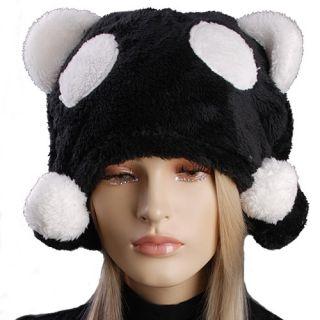 HJ2049 Women Winter Soft Warm Cartoon Animal Panda Costume Beanie Hat Cap