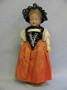 "9 ¼"" Antique Kestner Doll 180 Series Character Fully Jointed Berne Swiss Costume"