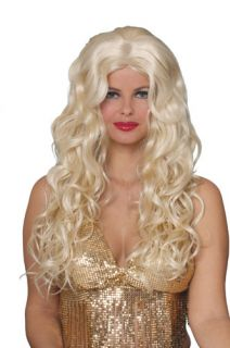 Dolly Parton Long Blonde Halloween Costume Wig