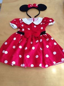 Disney Minnie Mouse Costume Halloween Dress Baby Girls 9 Months Worn Once