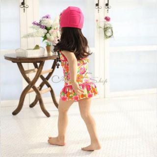 Girls Floral Halter Tankini Swimsuit Swimming Costume Swimwear Ages 5 9 Years