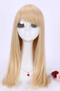 Long Blonde Straight Hair Wig