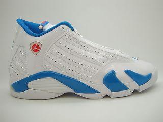 wholesale dealer 16e36 9e77f 467798 107 Girls Youth Air Jordan 14 Retro White Siren Red Neptune Blue