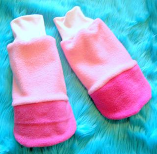 My Little Pony Custom Plush Fingerless Glove Hooves Cosplay Pinkie Pie MLP FIM