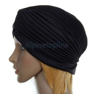 Fashion Ladies' Polyester Pleated Turban Head Wrap Headwrap Cap Twist Hat