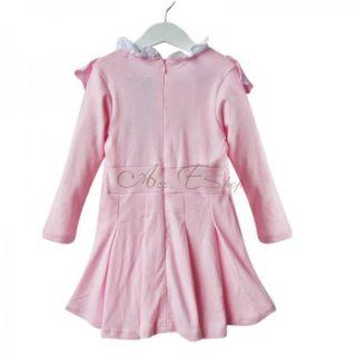 1pc Girls Baby Long Sleeve School Top Dress Kid Cotton Party Autumn Skirt 2T 6