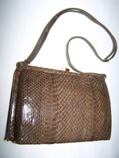"""Borsa """"Coccinella"""" Pochette Pitone Autentico 100 Vintage Bag '70"""