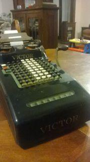 Victor Antique Adding Machine Calculator Register
