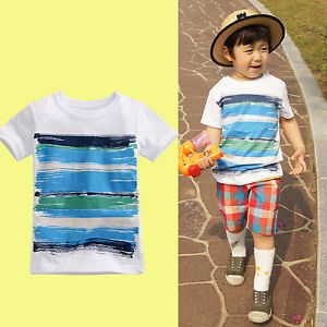 """Vaenait Baby Toddler Kids Boy Clothes Clothing Top T Shirts Tee """"Paint"""""""