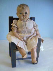 Antique Composition Ideal Doll Baby 1922 Sleep Eyes Original Clothes No 20