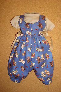 "Handmade Doll Clothes for 12"" 14"" Baby Dolls Teddy Bear Print Romper Shirt"