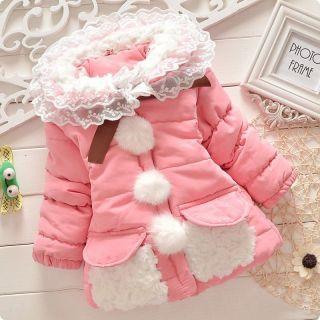 New Baby Girl Kids Fashion Coat Jacket Toddler Clothing Snowsuit Clothes XY11
